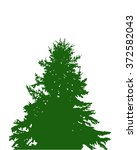 image silhouette of pine tree.... | Shutterstock . vector #372582043