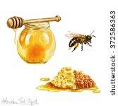 watercolor cooking clipart  ... | Shutterstock . vector #372586363