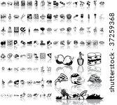 food set of black sketch. part... | Shutterstock .eps vector #37259368