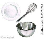 watercolor cooking clipart  ... | Shutterstock . vector #372598264