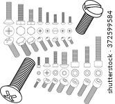 screw  set | Shutterstock .eps vector #372599584