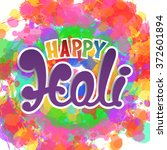 happy holi  handmade...   Shutterstock .eps vector #372601894