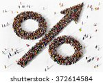 large and diverse group of... | Shutterstock . vector #372614584