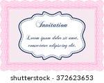 retro invitation template. nice ... | Shutterstock .eps vector #372623653