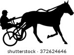 harness racing silhouette | Shutterstock .eps vector #372624646