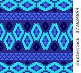 seamless geometrical boho... | Shutterstock .eps vector #372634894