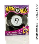 Small photo of Winneconne, WI - 5 Feb 2016: Box of the original Magic 8 Ball made by Mattel.