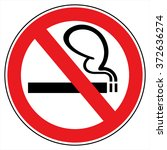 no smoking sign | Shutterstock .eps vector #372636274