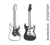 guitar vector illustration | Shutterstock .eps vector #372637369