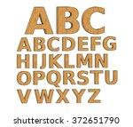 wood 3d letter alphabet. | Shutterstock . vector #372651790