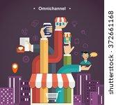 omni channel shopping... | Shutterstock .eps vector #372661168