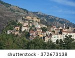 corsica a view of the citadel... | Shutterstock . vector #372673138