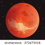 the planet mars in the... | Shutterstock .eps vector #372675418