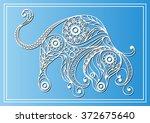 decorative zodiac sign taurus... | Shutterstock .eps vector #372675640