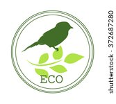 sticker or logo for organic... | Shutterstock .eps vector #372687280