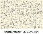 doodle set. various school...   Shutterstock .eps vector #372693454