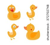 Vector Set Of Ducks.it Can Be...