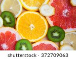 citrus fruit background with a...   Shutterstock . vector #372709063