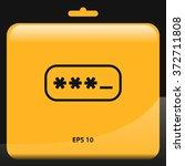 password box icon. vector...