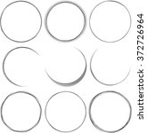 set of round elements for... | Shutterstock .eps vector #372726964