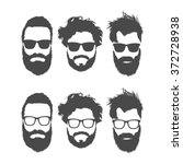 silhouettes of bearded men in... | Shutterstock .eps vector #372728938