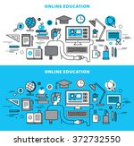 online education concept in... | Shutterstock .eps vector #372732550