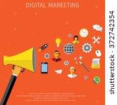 promotion concept. loudspeaker... | Shutterstock . vector #372742354