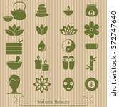 vector set of icons  for spa ... | Shutterstock .eps vector #372747640