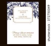 vintage delicate invitation... | Shutterstock .eps vector #372750349