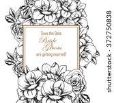 romantic invitation. wedding ... | Shutterstock .eps vector #372750838