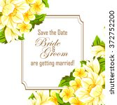 invitation with floral... | Shutterstock .eps vector #372752200