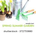 garden spring summer tools... | Shutterstock . vector #372753880