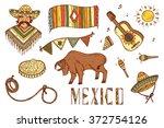 mexico vector set. mexican... | Shutterstock .eps vector #372754126