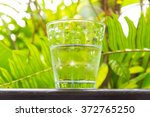 glass of water  put on the... | Shutterstock . vector #372765250