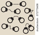set of vector handcuffs icons....