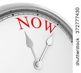 Time Is Now Concept. 3d...