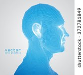 3d mesh human head medical scan ... | Shutterstock .eps vector #372781849