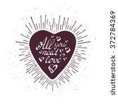 vintage grunge hand lettering... | Shutterstock .eps vector #372784369