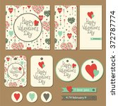 set of cards  gift tags and... | Shutterstock .eps vector #372787774
