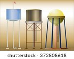 three water towers   set of...