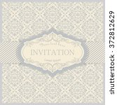 vintage invitation card with... | Shutterstock .eps vector #372812629