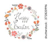 beautiful happy easter card... | Shutterstock .eps vector #372820996