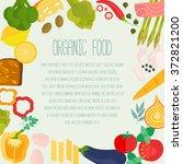 frame of flat designed food... | Shutterstock .eps vector #372821200