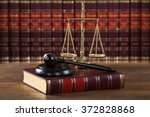 closeup of mallet and legal... | Shutterstock . vector #372828868