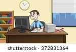 business man work in modern... | Shutterstock . vector #372831364