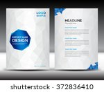 white annual report template ... | Shutterstock .eps vector #372836410
