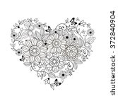 heart of flowers and... | Shutterstock .eps vector #372840904