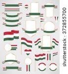 hungary flag decoration...   Shutterstock .eps vector #372855700