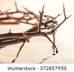 Crown Of Thorns With Blood...