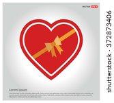 valentines heart. vector...   Shutterstock .eps vector #372873406